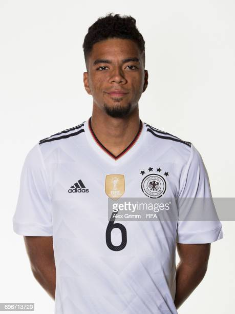 Benjamin Henrichs poses for a picture during the Germany team portrait session on June 16 2017 in Sochi Russia
