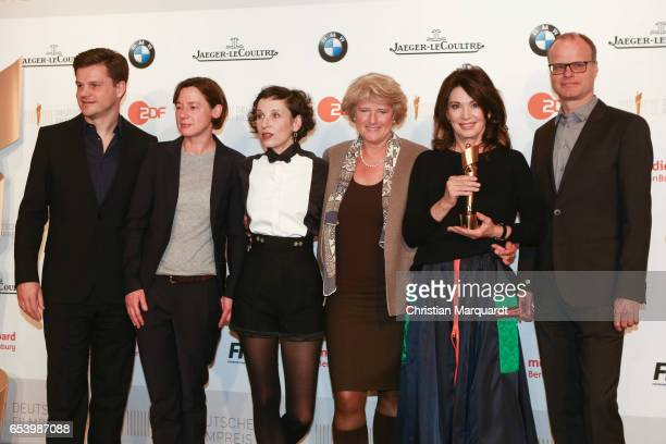 Benjamin Herrmann Annne Leppin Meret Becker newly elected board member of the Deutsche Filmakademie Monika Gruetters Berlins Minister of Culture Iris...