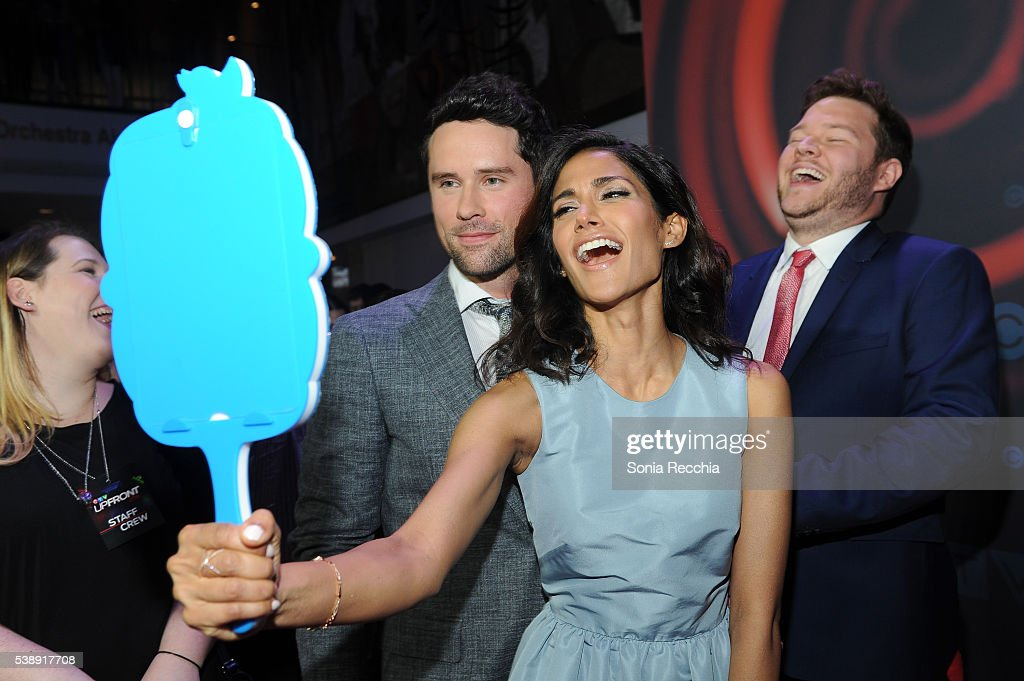 Benjamin Hollingsworth Melanie Chandra and Harry Ford attend CTV Upfronts 2016 at Sony Centre for the Performing Arts on June 8 2016 in Toronto Canada