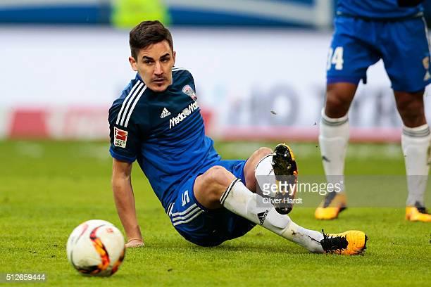 Benjamin Huebner of Ingoldstadt in action during the First Bundesliga match between Hamburger SV and FC Ingolstadt at Volksparkstadion on February 27...