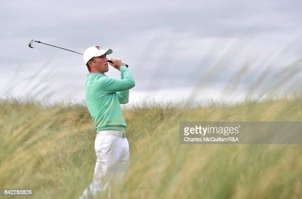 Benjamin Jones of GB and Ireland during the morning foursomes matches as the Jacques Leglise Trophy golf tournament between GB Ireland versus the...