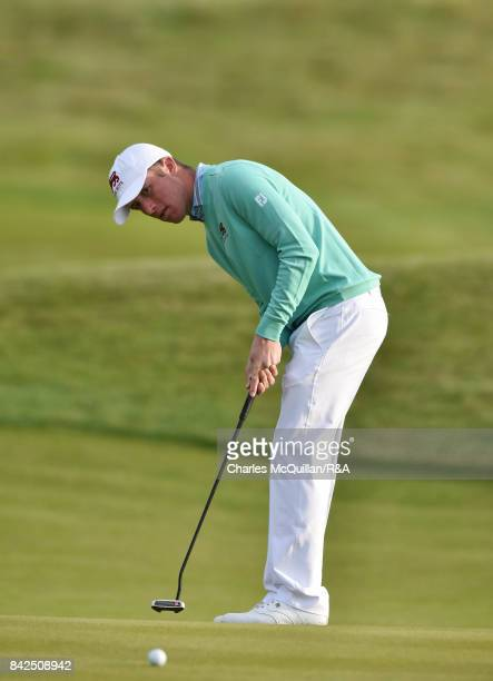Benjamin Jones of GB I as the Jacques Leglise Trophy golf tournament between GB Ireland versus the Continent of Europe takes place on September 1...
