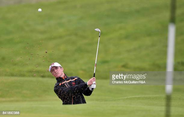 Benjamin Jones of GB I during the afternoon singles matches as the Jacques Leglise Trophy golf tournament between GB Ireland versus the Continent of...