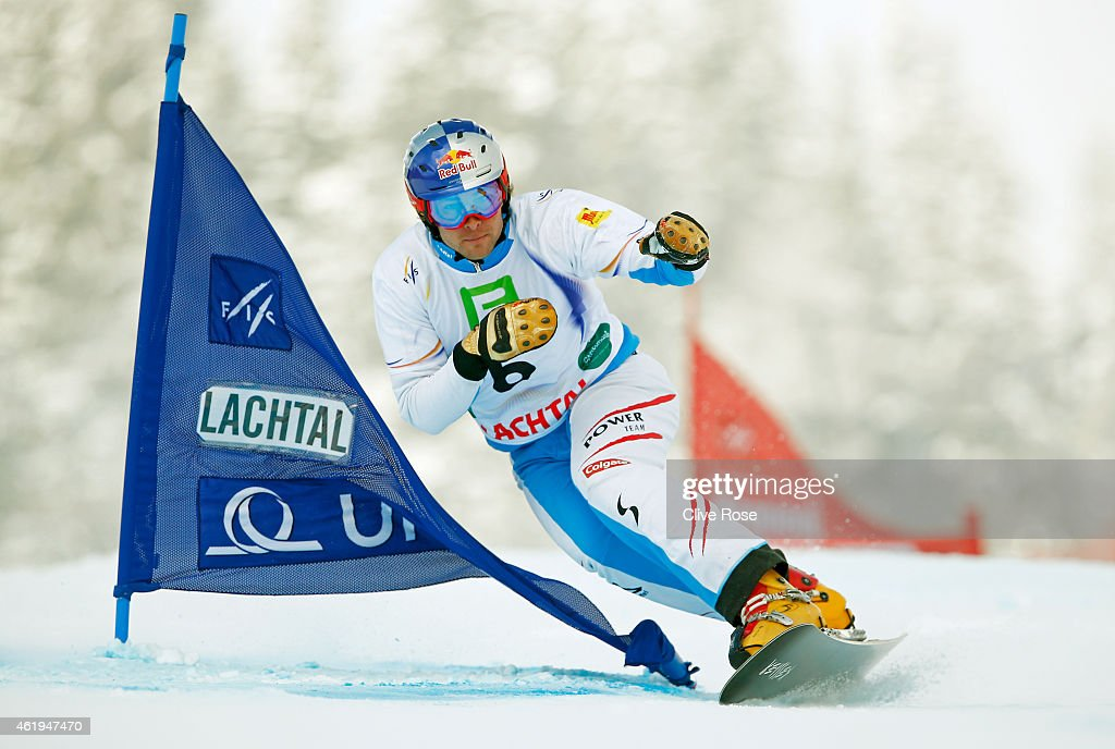 <a gi-track='captionPersonalityLinkClicked' href=/galleries/search?phrase=Benjamin+Karl&family=editorial&specificpeople=4586461 ng-click='$event.stopPropagation()'>Benjamin Karl</a> of Austria competes in the Men's Snowboard Parallel Slalom Finals during the FIS Freestyle Ski and Snowboard World Championships 2015 on January 22, 2015 in Lachtal, Austria