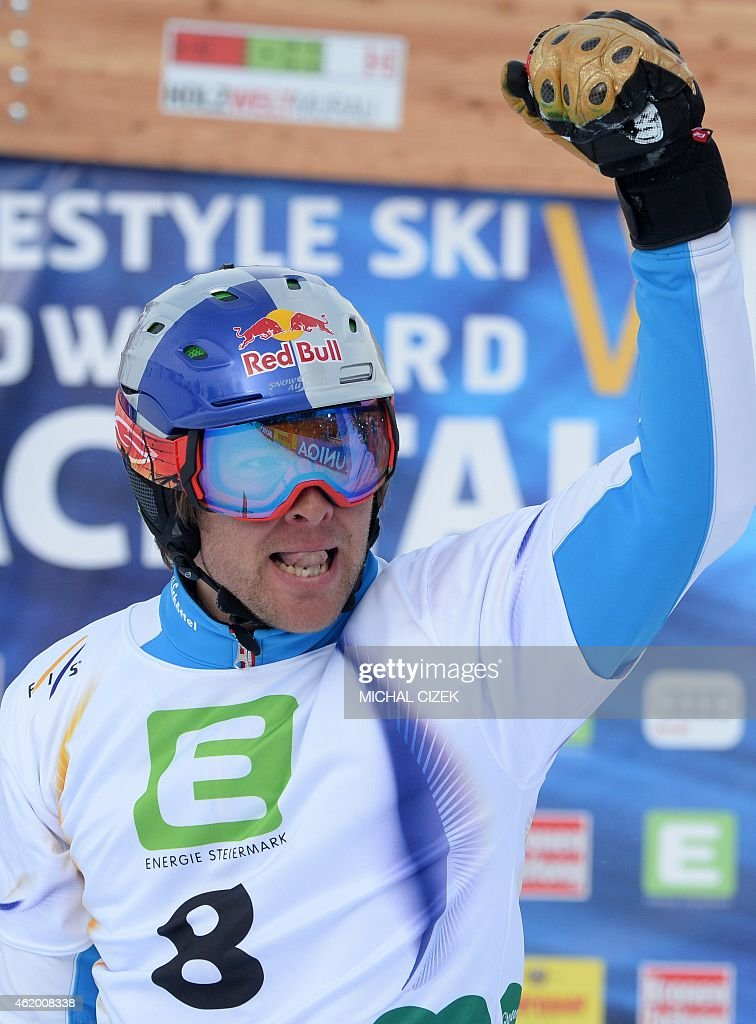<a gi-track='captionPersonalityLinkClicked' href=/galleries/search?phrase=Benjamin+Karl&family=editorial&specificpeople=4586461 ng-click='$event.stopPropagation()'>Benjamin Karl</a> of Austria reacts after the Men's Snowboard Parallel Giant slalom finals at FIS Freestyle and Snowboarding World Ski Championships 2015 in Lachtal near Kreischberg, Austria on January 23, 2015. Andrey Sobolev of Russia won ahead of Zan Kosir of Slovenia and <a gi-track='captionPersonalityLinkClicked' href=/galleries/search?phrase=Benjamin+Karl&family=editorial&specificpeople=4586461 ng-click='$event.stopPropagation()'>Benjamin Karl</a> of Austria.