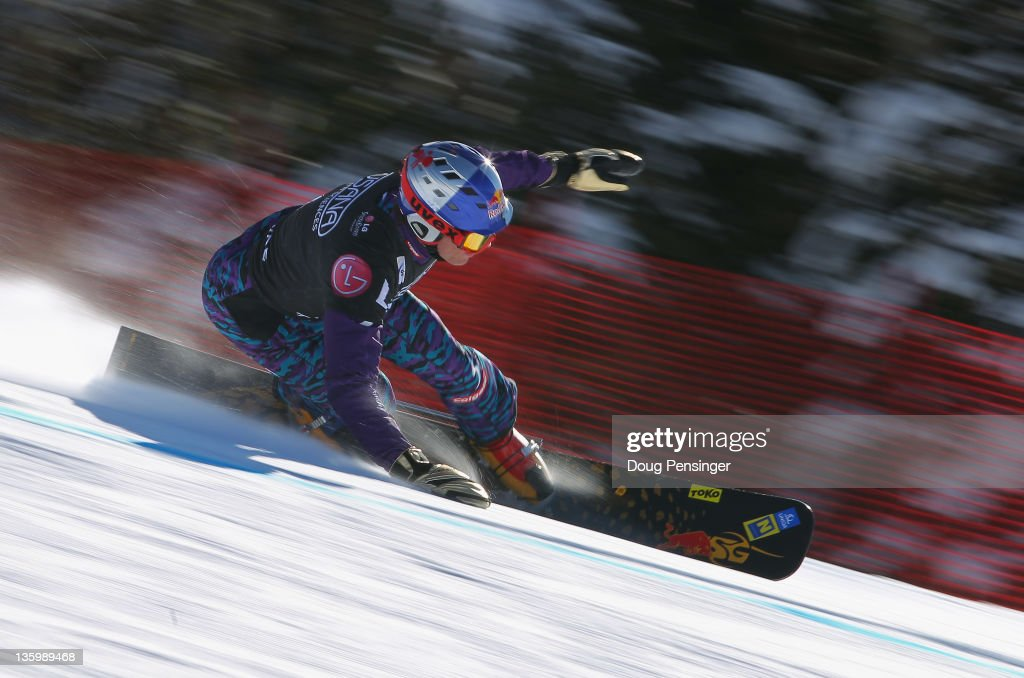<a gi-track='captionPersonalityLinkClicked' href=/galleries/search?phrase=Benjamin+Karl&family=editorial&specificpeople=4586461 ng-click='$event.stopPropagation()'>Benjamin Karl</a> of Austria rides to first place in the men's parallel giant slalom at the LG Snowboard FIS World Cup on December 15, 2011 in Telluride, Colorado.