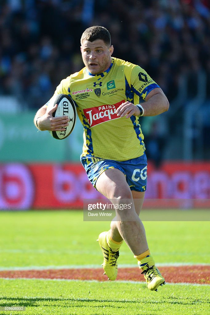 Benjamin Kayser of Clermont during the French Top 14 rugby union match between Racing 92 v Clermont at Stade Yves Du Manoir on May 1, 2016 in Colombes, France.