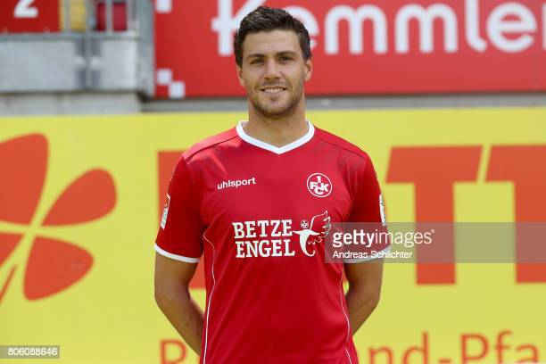 Benjamin Kessel of 1 FC Kaiserslautern poses during the team presentation at on July 3 2017 in Kaiserslautern Germany
