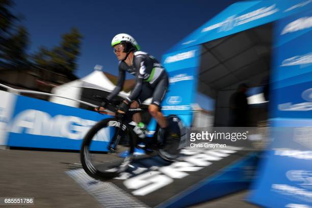 Benjamin King of United States riding for Team Dimension Data rides during stage five of the AMGEN Tour of California from Ontario to Mt Baldy on May...