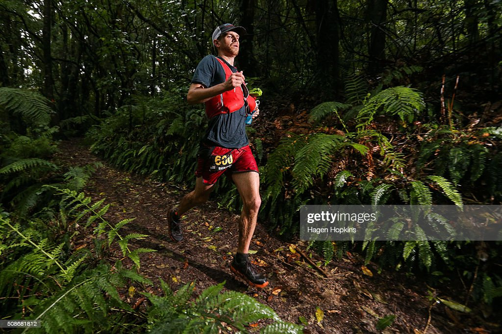 Benjamin Koss of USA in action during the Tarawera Ultramarathon on February 6, 2016 in Rotorua, New Zealand.