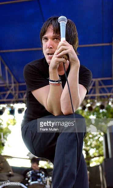 Benjamin Kowalawicz of Billy Talent during Billy Talent concert September 13 2003 at Masquerade Music Park in Atlanta Georgia United States