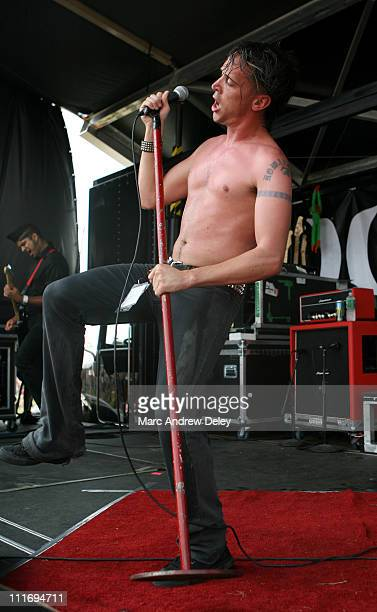 Benjamin Kowalewicz of Billy Talent during 2006 Vans Warped Tour Fitchburg at Fitchburg Airport in Fitchburg Massachusetts United States