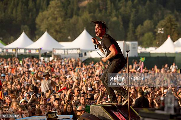 Benjamin Kowalewicz of Billy Talent performs at the Pemberton Music Festical on July 16 2015 in Pemberton Canada
