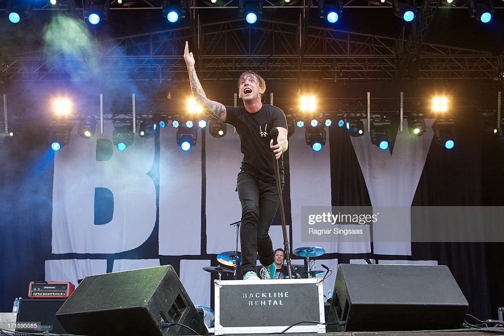 Benjamin Kowalewicz of Billy Talent performs on stage on Day 1 of Rock The Beach Festival on June 26, 2013 in Helsinki, Finland.