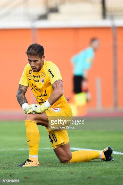 Benjamin Lecomte of Montpellier during the friendly match between Montpellier Herault and Toulouse Fc on July 22 2017 in Narbonne France