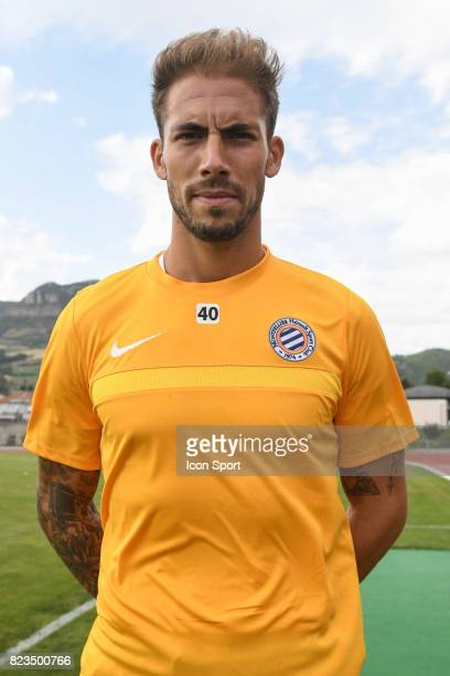 Benjamin Lecomte of Montpellier during the friendly match between Montpellier Herault and Clermont foot on July 19 2017 in Millau France