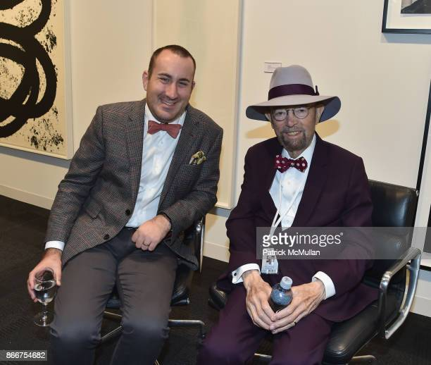 Benjamin Levy and Sidey Felsen attend the IFPDA Fine Art Print Fair Opening Preview at The Jacob K Javits Convention Center on October 25 2017 in New...