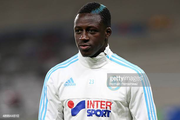 Benjamin Mendy for Olympique de Marseille before the French Ligue 1 game between Toulouse FC and Olympique de Marseille at Stadium Municipal on...