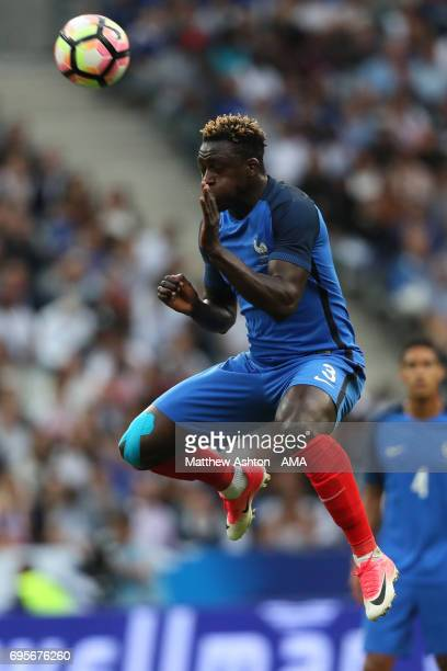 Benjamin Mendy of France in action during the International Friendly match between France and England at Stade de France on June 13 2017 in Paris...