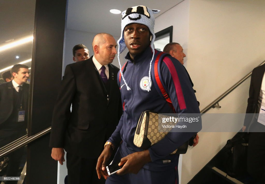 http://media.gettyimages.com/photos/benjamin-mendy-of-manchester-city-arrives-at-the-stadium-prior-to-the-picture-id852249288