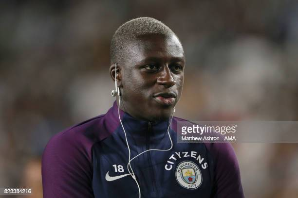 Benjamin Mendy of Manchester City during the International Champions Cup 2017 match between Manchester City and Real Madrid at Los Angeles Memorial...