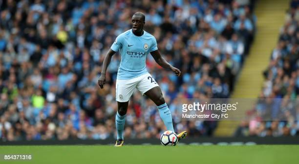 Benjamin Mendy of Manchester City during the Premier League match between Manchester City and Crystal Palace at Etihad Stadium on September 23 2017...
