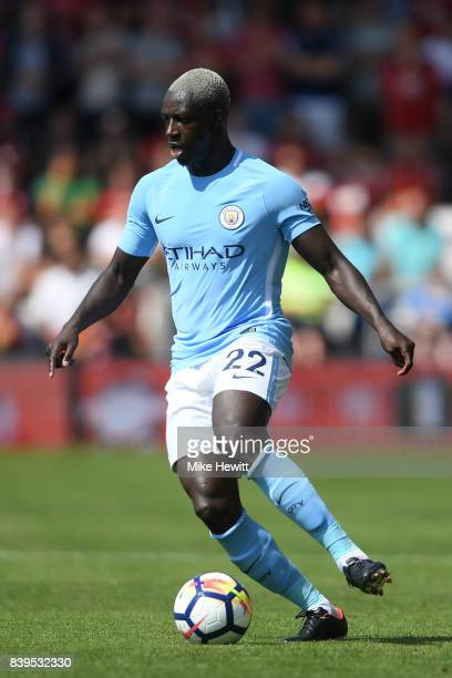 Benjamin Mendy of Manchester City in action during the Premier League match between AFC Bournemouth and Manchester City at Vitality Stadium on August...
