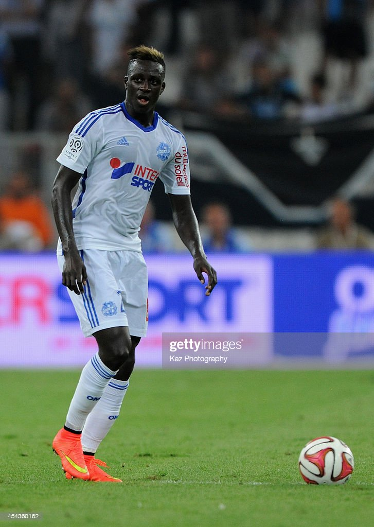 <a gi-track='captionPersonalityLinkClicked' href=/galleries/search?phrase=Benjamin+Mendy&family=editorial&specificpeople=7029850 ng-click='$event.stopPropagation()'>Benjamin Mendy</a> of Marseille in action the French Ligue 1 match between Olympique de Marseille and OGC Nice at Stade Velodrome on August 29, 2014 in Marseille, France.