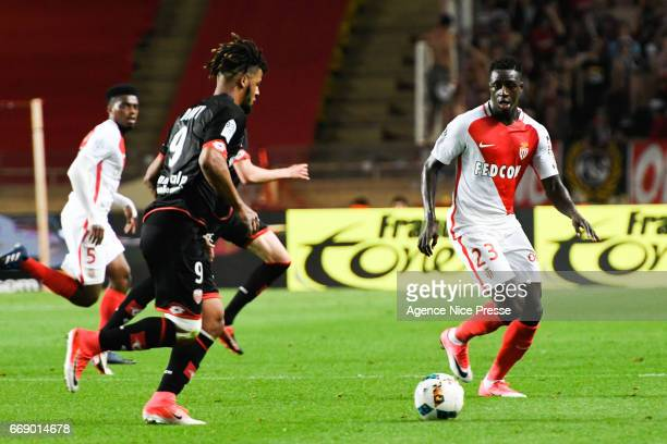 Benjamin Mendy of Monaco during the Ligue 1 match between As Monaco and Dijon FCO at Louis II Stadium on April 15 2017 in Monaco Monaco