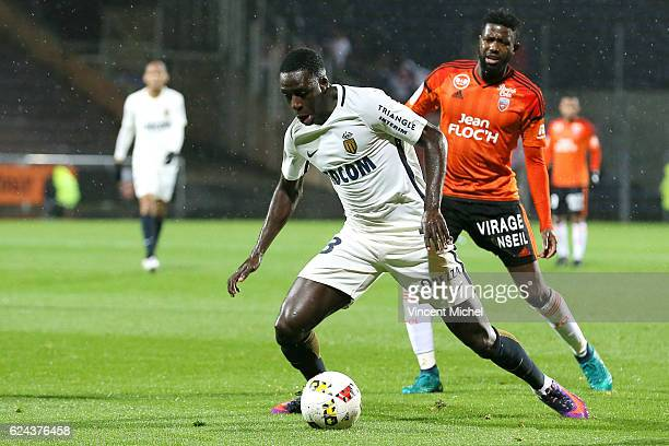 Benjamin Mendy of Monaco during the Ligue 1 match between Fc Lorient and As Monaco at Stade du Moustoir on November 18 2016 in Lorient France