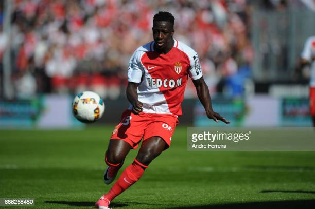 Benjamin Mendy of Monaco during the Ligue 1 match between SCO Angers and AS Monaco on April 8 2017 in Angers France