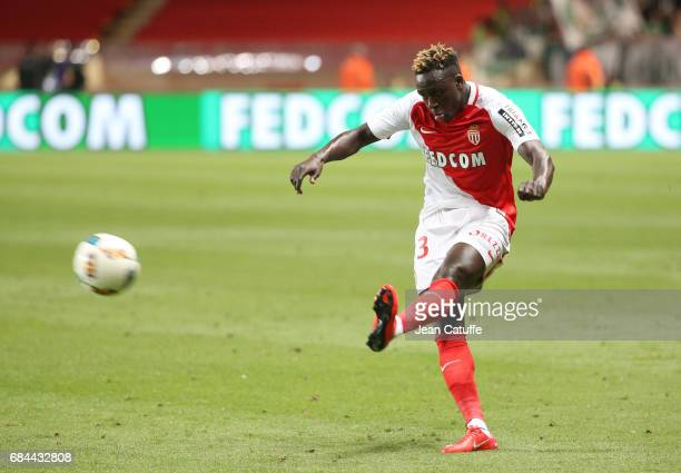 Benjamin Mendy of Monaco in action during the French Ligue 1 match between AS Monaco and AS SaintEtienne at Stade Louis II on May 17 2017 in Monaco...
