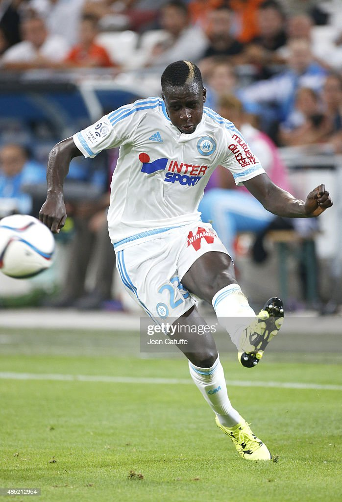 <a gi-track='captionPersonalityLinkClicked' href=/galleries/search?phrase=Benjamin+Mendy&family=editorial&specificpeople=7029850 ng-click='$event.stopPropagation()'>Benjamin Mendy</a> of OM in action during the French Ligue 1 match between Olympique de Marseille (OM) and Troyes ESTAC at New Stade Velodrome on August 23, 2015 in Marseille, France.