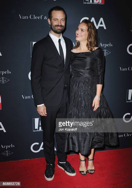Benjamin Millepied and Natalie Portman arrive at the LA Dance Project's Annual Gala at LA Dance Project on October 7 2017 in Los Angeles California