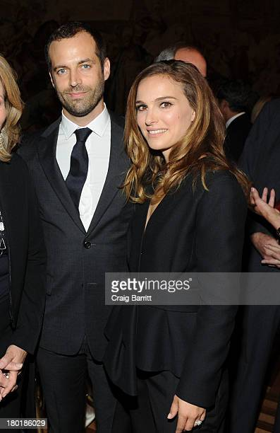 Benjamin Millepied and Natalie Portman attend a private reception hosted by Vacheron Constantin and AFPOB to Honor Benjamin Millepied's appointment...