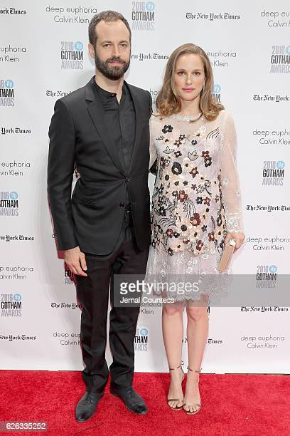Benjamin Millepied and Natalie Portman attend IFP's 26th Annual Gotham Independent Film Awards at Cipriani Wall Street on November 28 2016 in New...