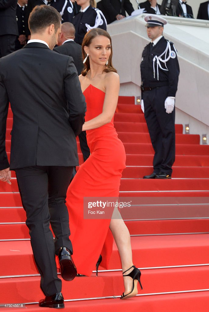 Benjamin Millepied and Natalie Portman attend the opening ceremony and premiere of 'La Tete Haute ('Standing Tall') during the 68th annual Cannes Film Festival on May 13, 2015 in Cannes, France.