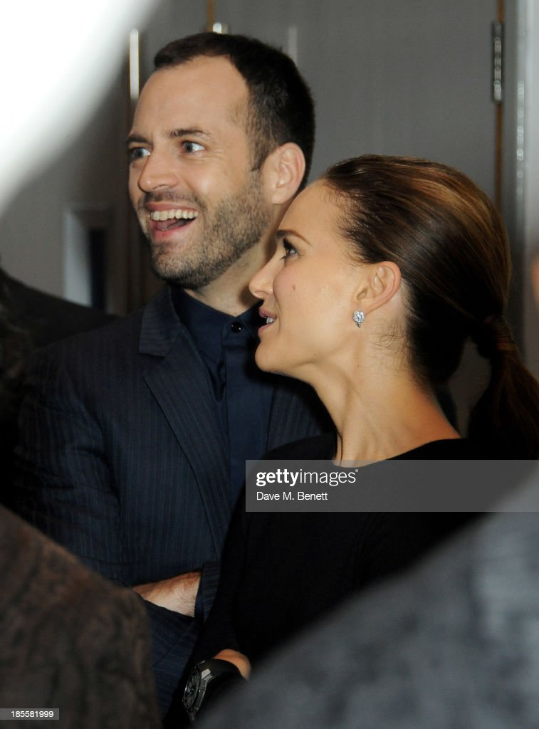 <a gi-track='captionPersonalityLinkClicked' href=/galleries/search?phrase=Benjamin+Millepied&family=editorial&specificpeople=6539957 ng-click='$event.stopPropagation()'>Benjamin Millepied</a> (L) and <a gi-track='captionPersonalityLinkClicked' href=/galleries/search?phrase=Natalie+Portman&family=editorial&specificpeople=202035 ng-click='$event.stopPropagation()'>Natalie Portman</a> attend the World Premiere of 'Thor: The Dark World' at Odeon Leicester Square on October 22, 2013 in London, England.