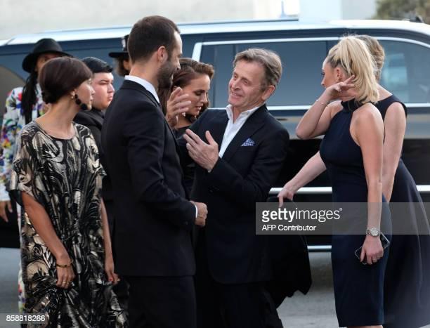 Benjamin Millepied Natalie Portman Mikhail Baryshnikov Lisa Rinehart and Rashida Jones arrive at the LADP annual gala and unveiling of new company...