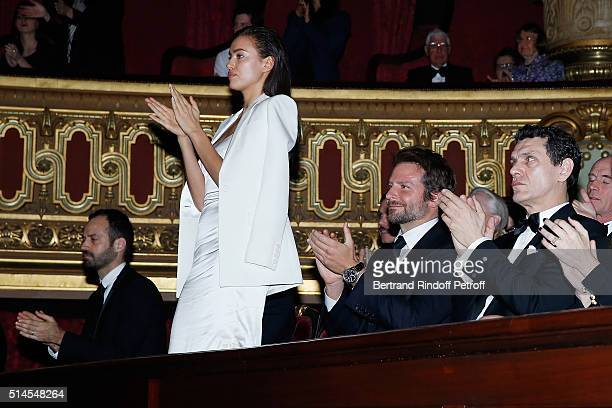 Benjamin Millepieds Irina Shayk Bradley Cooper and Marc Lavoine attend the Arop Charity Gala At the Opera Garnier under the auspices of Madam...