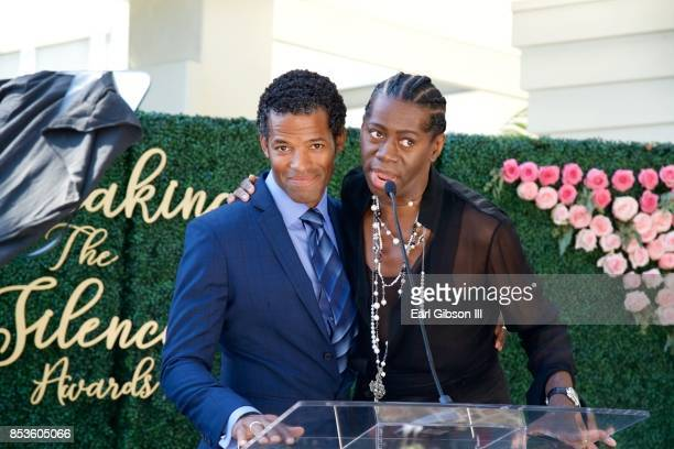 Benjamin Patterson and J Alexander speak onstage at the Breaking The Silence Awards on September 24 2017 in Santa Monica California