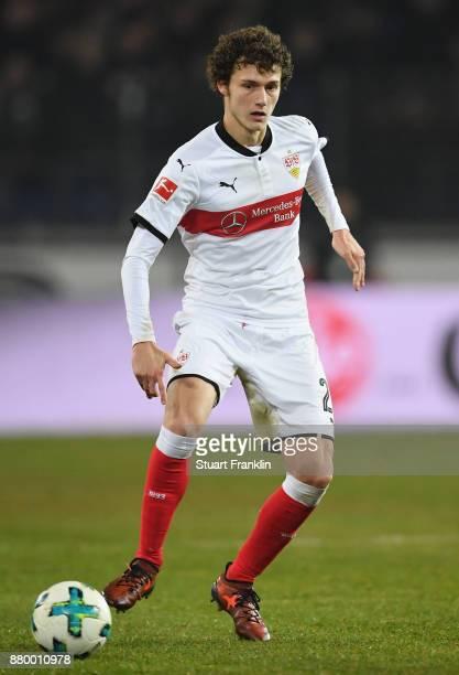 Benjamin Pavard of Stuttagrt in action during the Bundesliga match between Hannover 96 and VfB Stuttgart at HDIArena on November 24 2017 in Hanover...