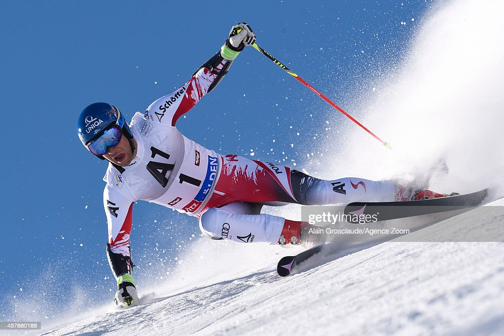 <a gi-track='captionPersonalityLinkClicked' href=/galleries/search?phrase=Benjamin+Raich&family=editorial&specificpeople=209244 ng-click='$event.stopPropagation()'>Benjamin Raich</a> of Austria competes during the Audi FIS Alpine Ski World Cup Men's Giant Slalom on October 26, 2014 in Soelden, Austria.