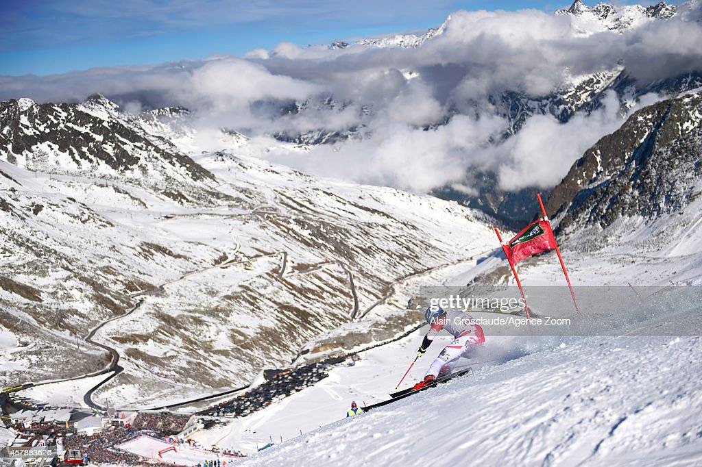 Benjamin Raich of Austria competes during the Audi FIS Alpine Ski World Cup Men's Giant Slalom on October 26 2014 in Soelden Austria