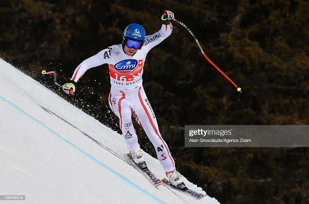 <a gi-track='captionPersonalityLinkClicked' href=/galleries/search?phrase=Benjamin+Raich&family=editorial&specificpeople=209244 ng-click='$event.stopPropagation()'>Benjamin Raich</a> of Austria takes 1st place during the Audi FIS Alpine Ski World Cup Men's Giant Slalom on February 25, 2012 in Crans-Montana, Switzerland.