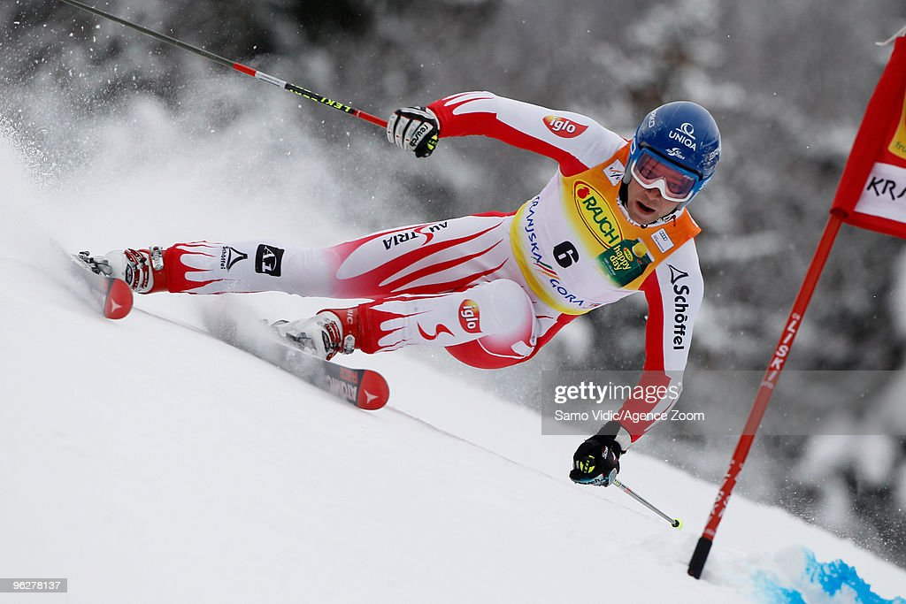 <a gi-track='captionPersonalityLinkClicked' href=/galleries/search?phrase=Benjamin+Raich&family=editorial&specificpeople=209244 ng-click='$event.stopPropagation()'>Benjamin Raich</a> of Austria takes 6th place during the Audi FIS Alpine Ski World Cup Men's Giant Slalom on January 30, 2010 in Kranjska Gora, Slovenia.
