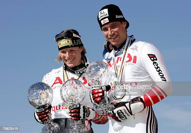 Benjamin Raich of Austria takes the Overall Giant Slalom globe and Marlies Schild of Austria takes the Overall Slalom and Super Combined globes...