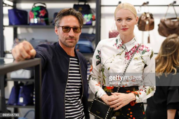 Benjamin Sadler and Franziska Knuppe attend the preopening party 'Saks OFF 5TH' at Carsch Haus on June 7 2017 in Duesseldorf Germany