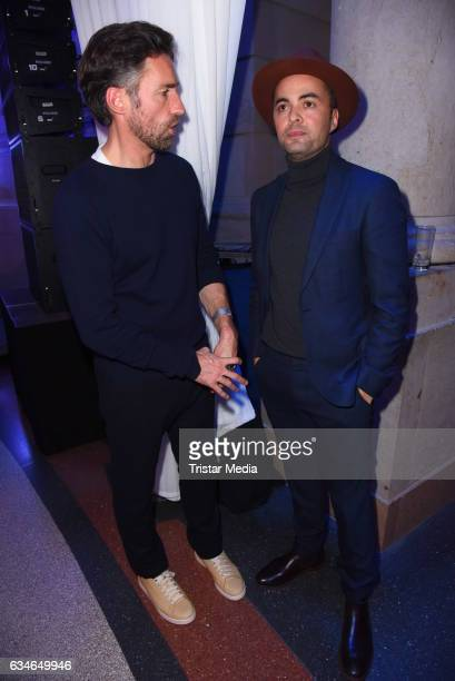 Benjamin Sadler and Nikolai Kinski attend the Blue Hour Reception hosted by ARD during the 67th Berlinale International Film Festival Berlin on...