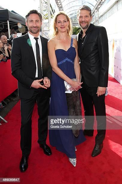 Benjamin Sadler Sophie von Kessel and Kai Wiesinger attend the Lola German Film Award 2014 at Tempodrom on May 9 2014 in Berlin Germany